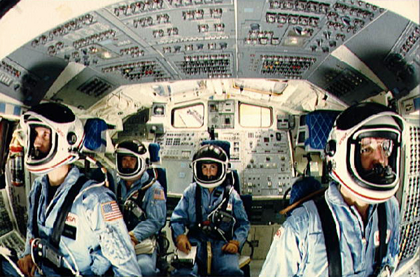 space shuttle columbia crew on tool time - photo #7