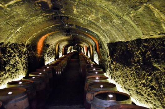 The wine cave at Del Dotto's Historic Winery