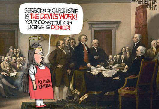 Kim Davis cartoon