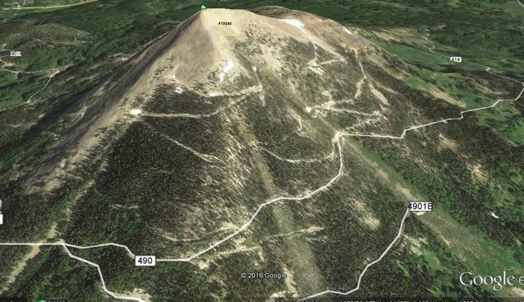 Hahn's Peak - Roads by Vernon Kiser
