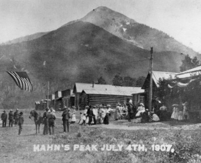 Hahn's Peak and the town after the Gold Rush