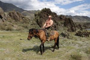 Vladimir Putin tests drives new Russian personnel carrier